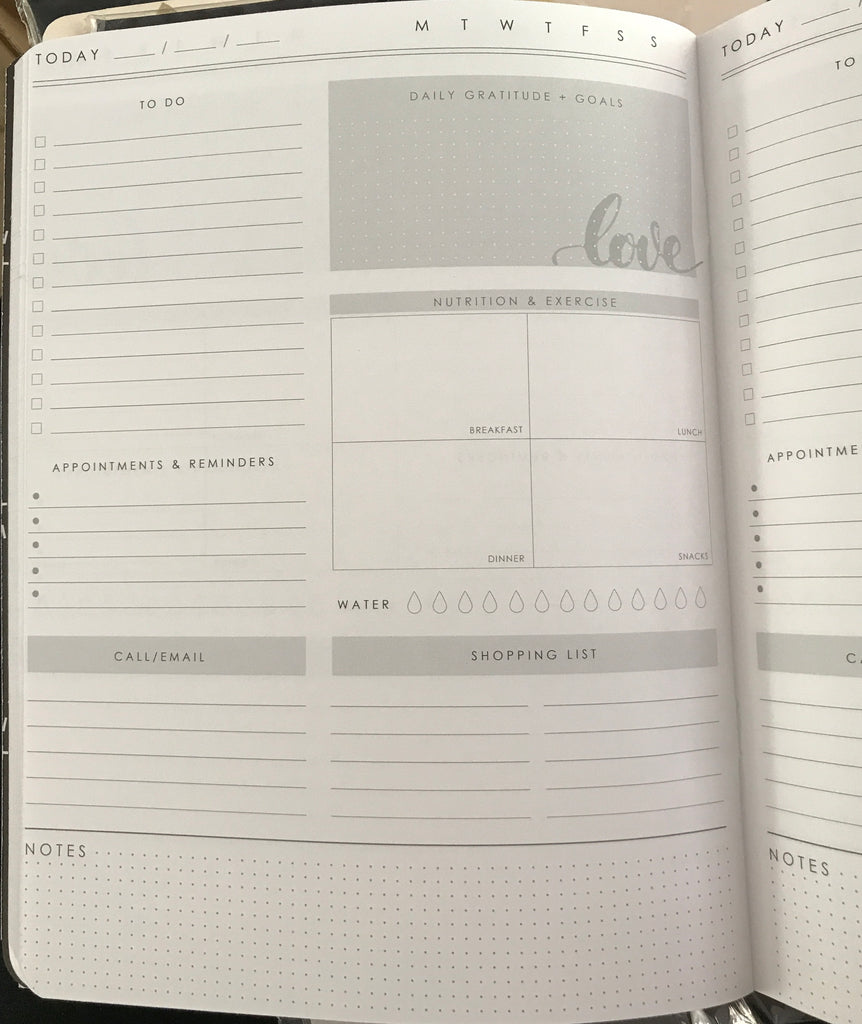 Webster's Pages Composition Planner Insert - Gold heart Daily Tracker insert - N