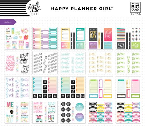 New Healthy HeroMe and My Big Ideas Classic Happy Planner Accessory Pack PLMP-10