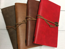 Genuine Leather Standard Size Travelers Notebook includes two blank inserts