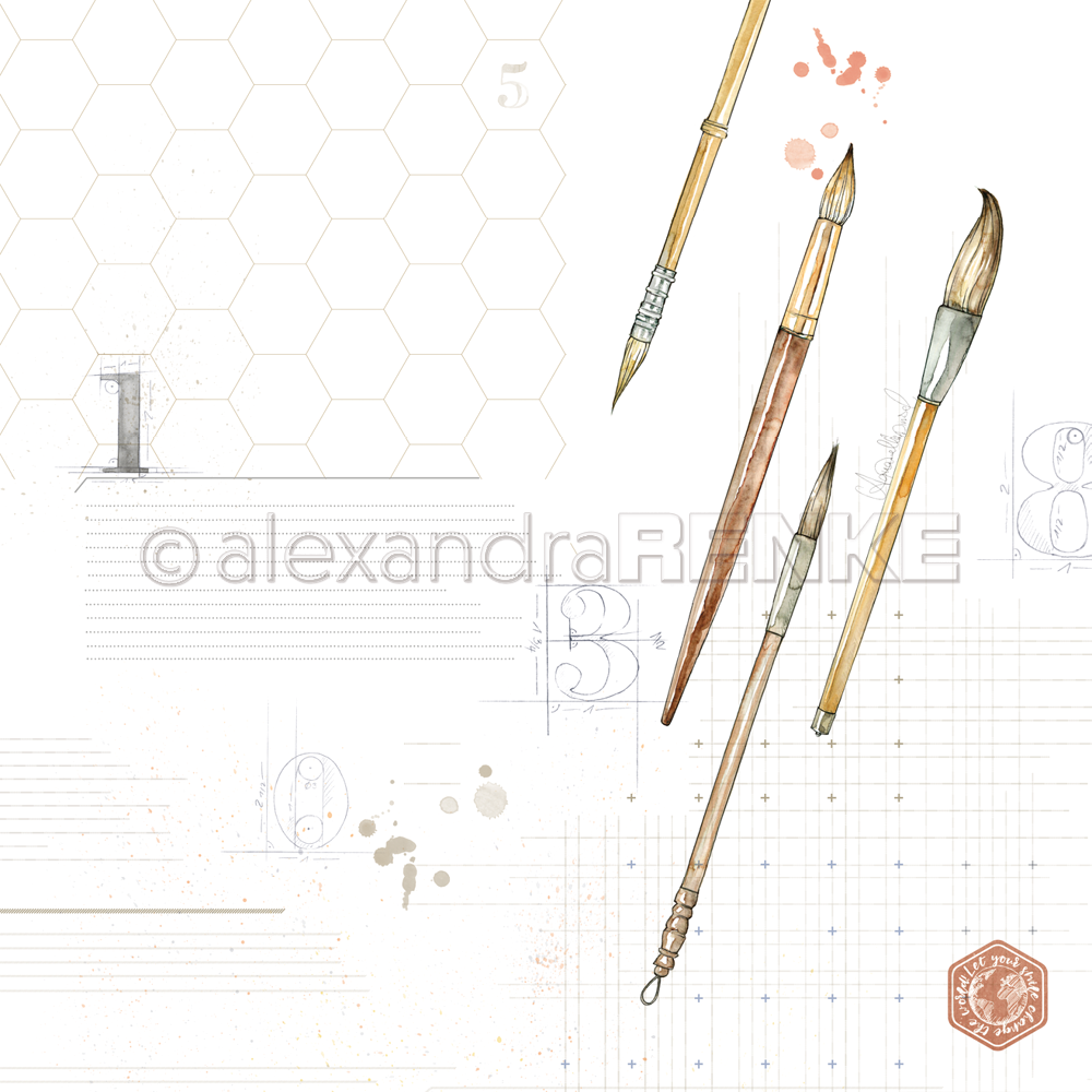 Cover Page for your Travelers Notebook Insert - ALEXANDRA RENKE - brushes - 10.873