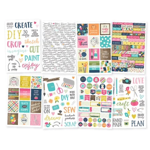 NEW Simple Stories  Sticker Pack - Crafty Girl - 10010