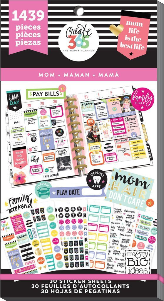 Mom Value Pack 1439 pieces- Me and My Big Ideas Create 365 Happy Planner Sticker