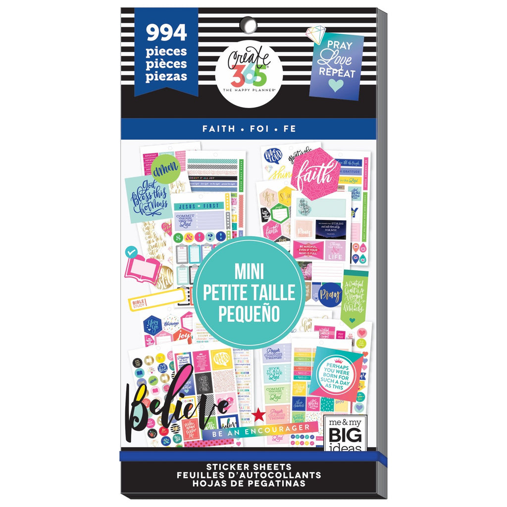 NEW - Mini Faith- 994 Pieces - Me and My Big Ideas Create 365 Happy Planner Stic