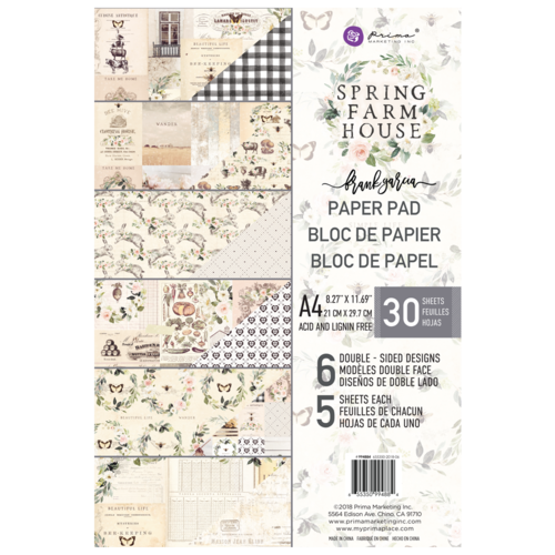 NEW My Prima Planner A4 Paper Pad - Spring Farmhouse