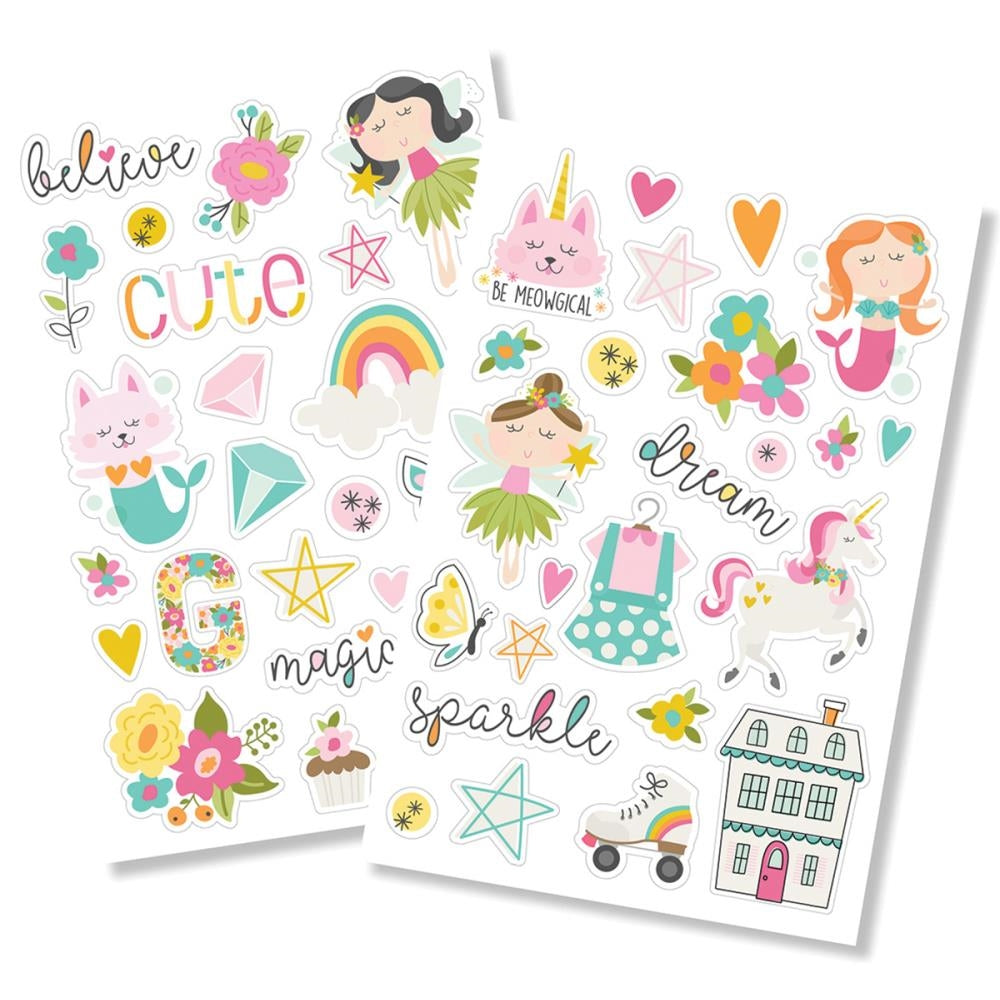 New Simple Stories Dream Big - Puffy Stickers - 10223