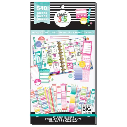 Productivity - 540 Pieces - Me and My Big Ideas Create 365 Happy Planner Sticker Book