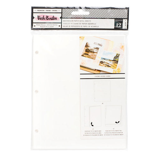 Vicki Boutin Binder refill - watercolour punched paper pack 343929