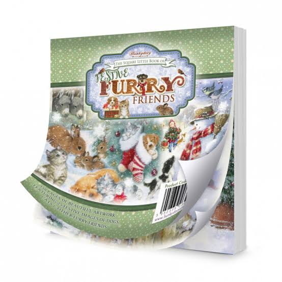Hunkydory Festive Furry Friends Pad - 48 pack  - LBSQ109