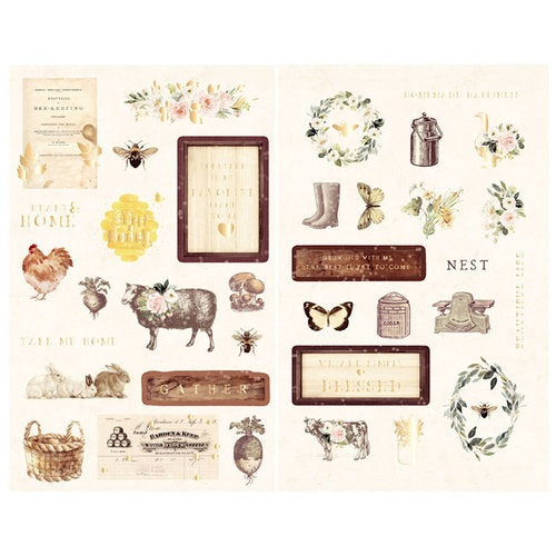 New Prima chipboard Stickers - Prima - Spring Farmhouse 994914