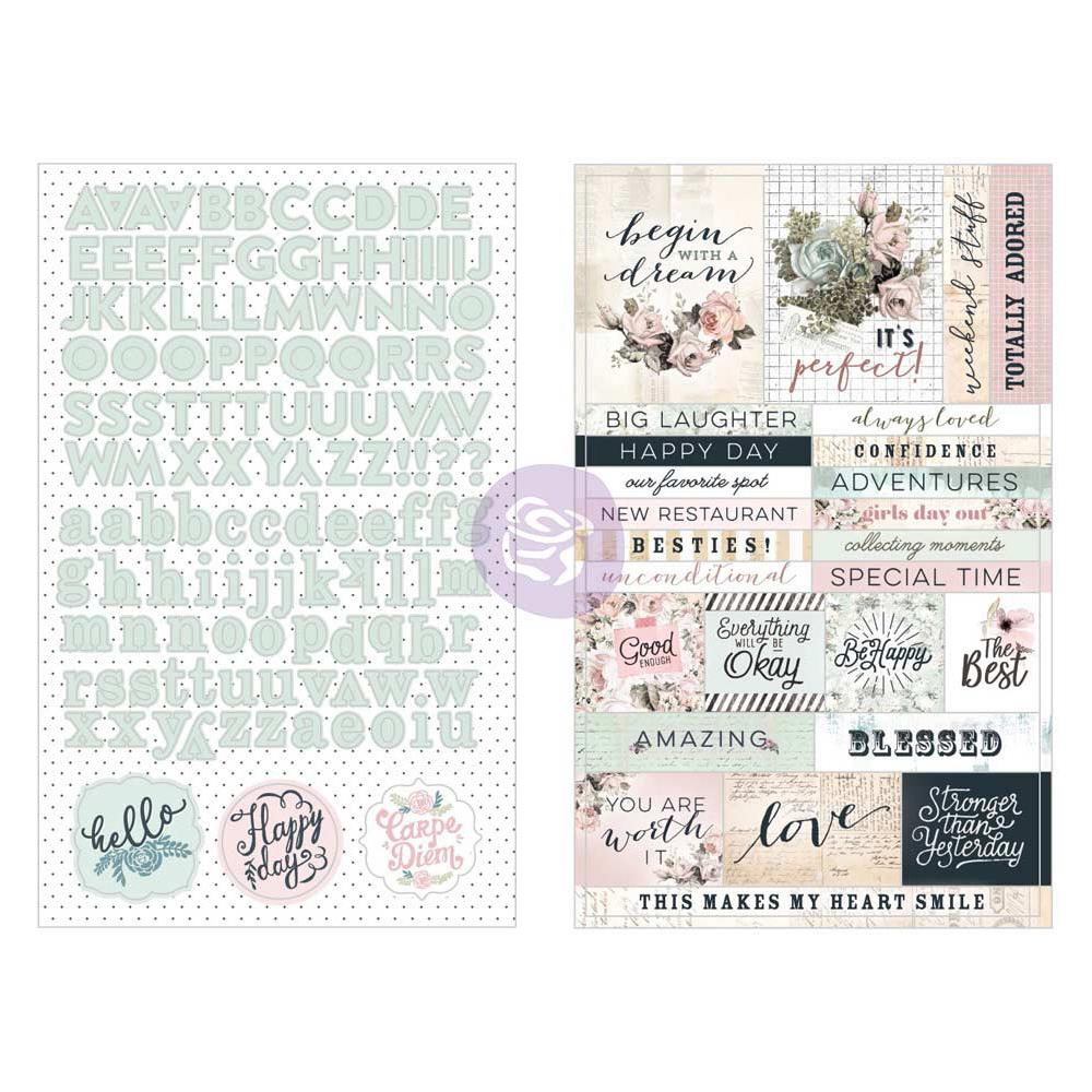 New Prima Bits and Pieces - 28pieces - quotes stickers Alpha  - 599782