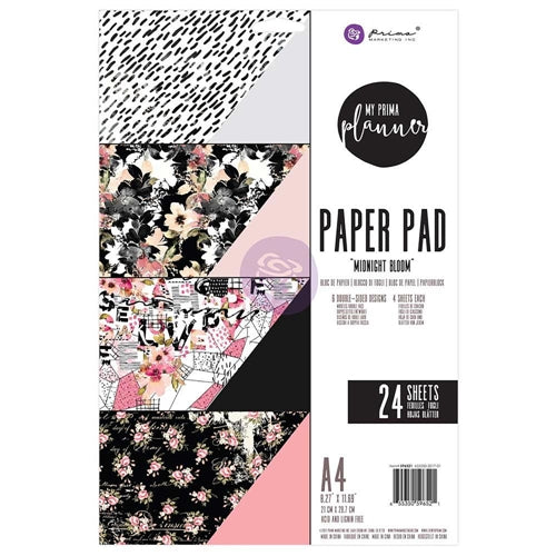 My Prima Planner A4 Paper Pad - Midnight Bloom - 596521