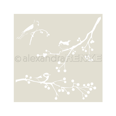 "New Alexandra Renke 6 x 6"" Stencil for Mixed Media Scrapbooking Card Making - wi"