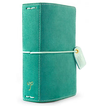 New 2018 Webster's Pages Colour Crush Pocket Size Travelers Notebook - Aspen Green Suede