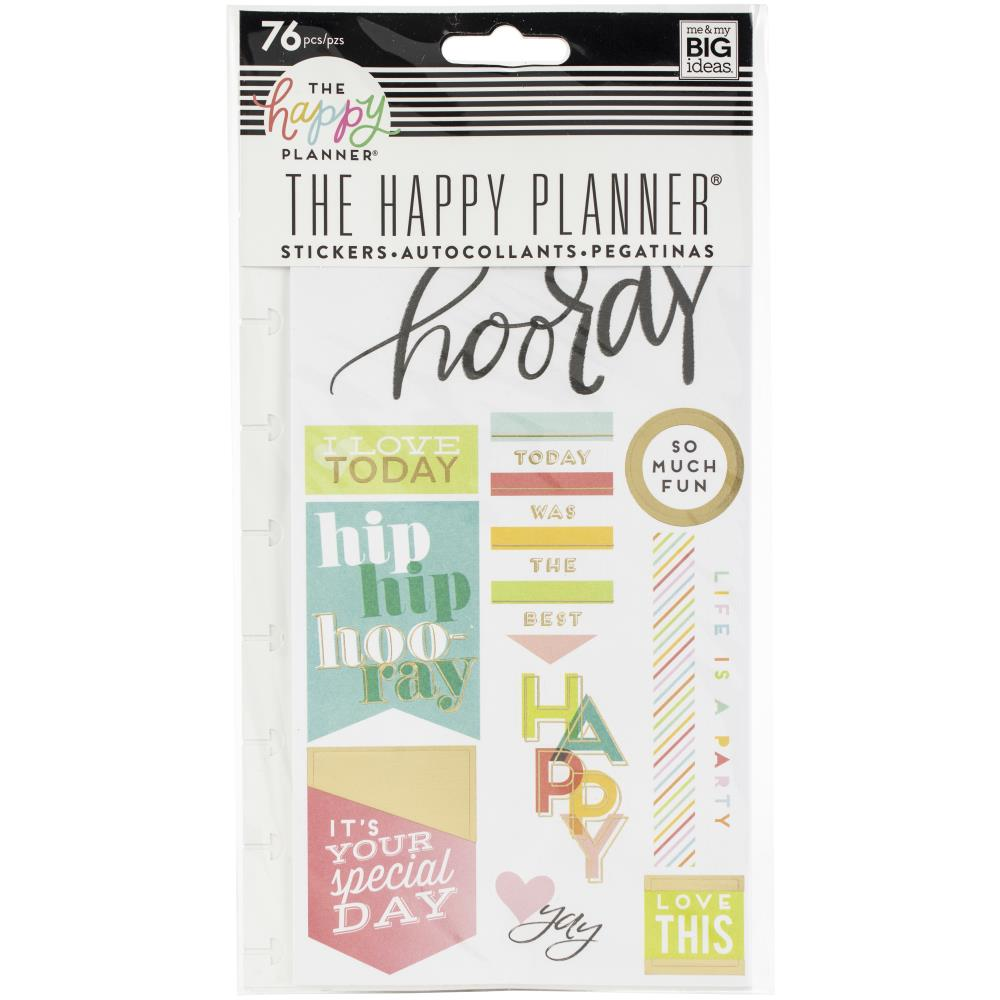Me and My Big Ideas Create 365 Happy Planner Stickers 76 pieces - Ppsp-111