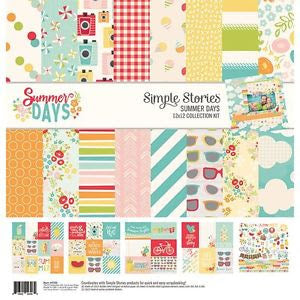 "Simple Stories Carpe Diem - Sunny Days 12 x 12"" Paper Collection - 9100"