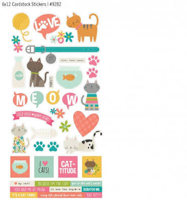 Simple Stories - cardstock stickers - Life is Purrfect Cat Stickers - 9282