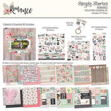 Simple Stories Carpe Diem Collectors Essential Kit - Romance - 9418