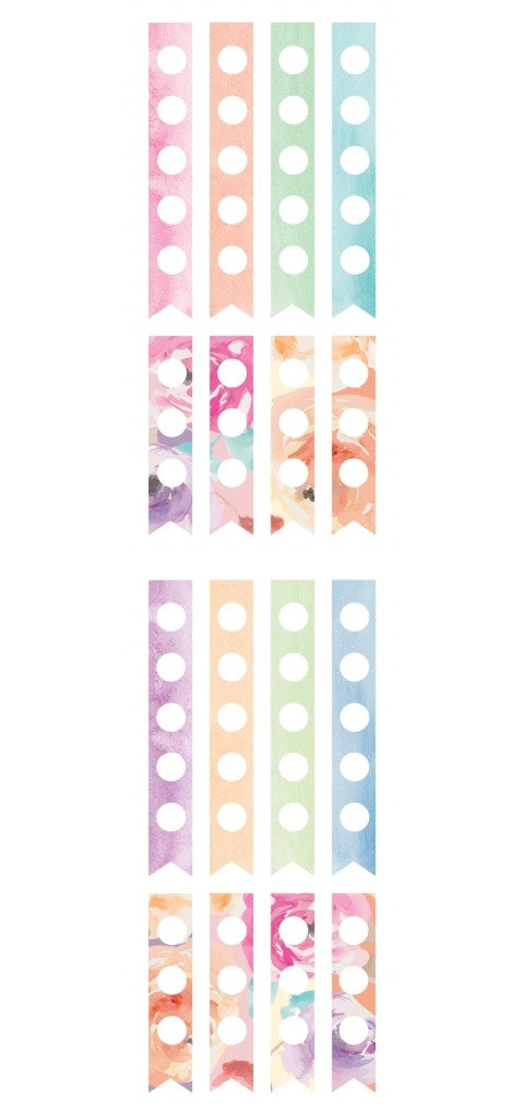 New Paper House Life Organised Stickers Floral Check Boxes sTT0007e