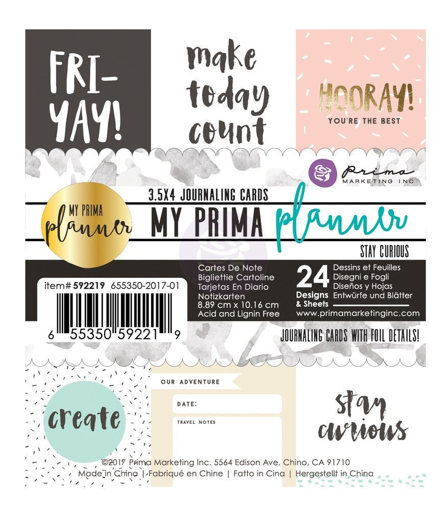 MY PRIMA PLANNER - STAY CURIOUS
