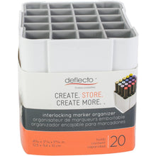 Deflecto interlocking Craft Storage Marker Pen Caddy - works in caddy or wall mounted
