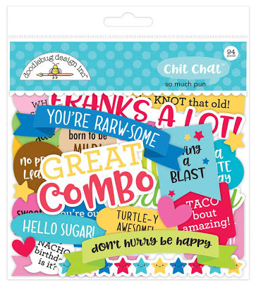 Doodlebug Chit Chat Ephemera - So Much Pun - 6056
