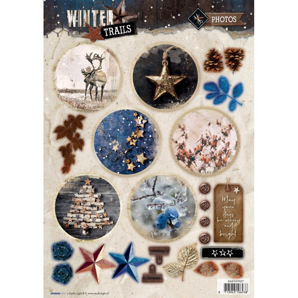 Winter Trails Christmas Die Cut Sheet - syet627