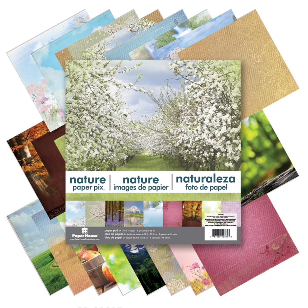 "Paper House Paper Pad 12x12"" 24 double sided papers - Nature  pp-0036"