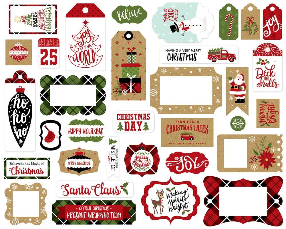New Echo Park Travelers Notebook Frames and Tags - Celebrate Christmas - MB15902