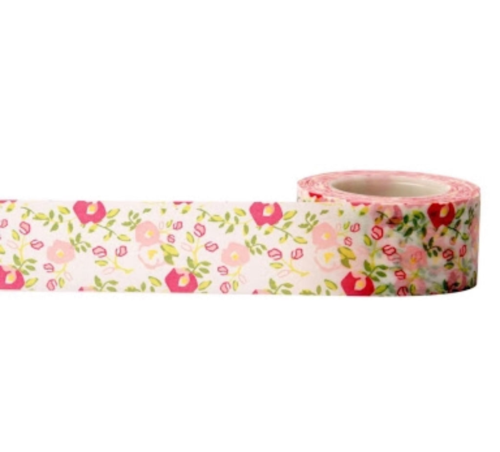 Little B white floral wide washi tape - 100655