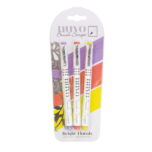 Nuvo - Tonic Studio - Brush Script Pens - Bright Floral - 111N