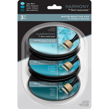 Spectrum Noir Harmony Water Reactive Ink Pads 3/Pkg - Aqua Blues