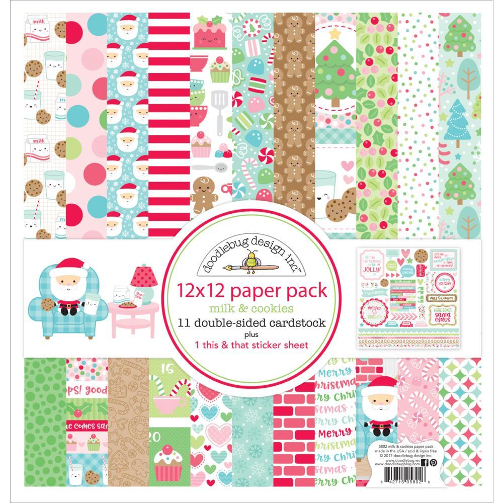 "Doodlebug Design 12 x 12""paper Pack with Sticker Sheet 5802"
