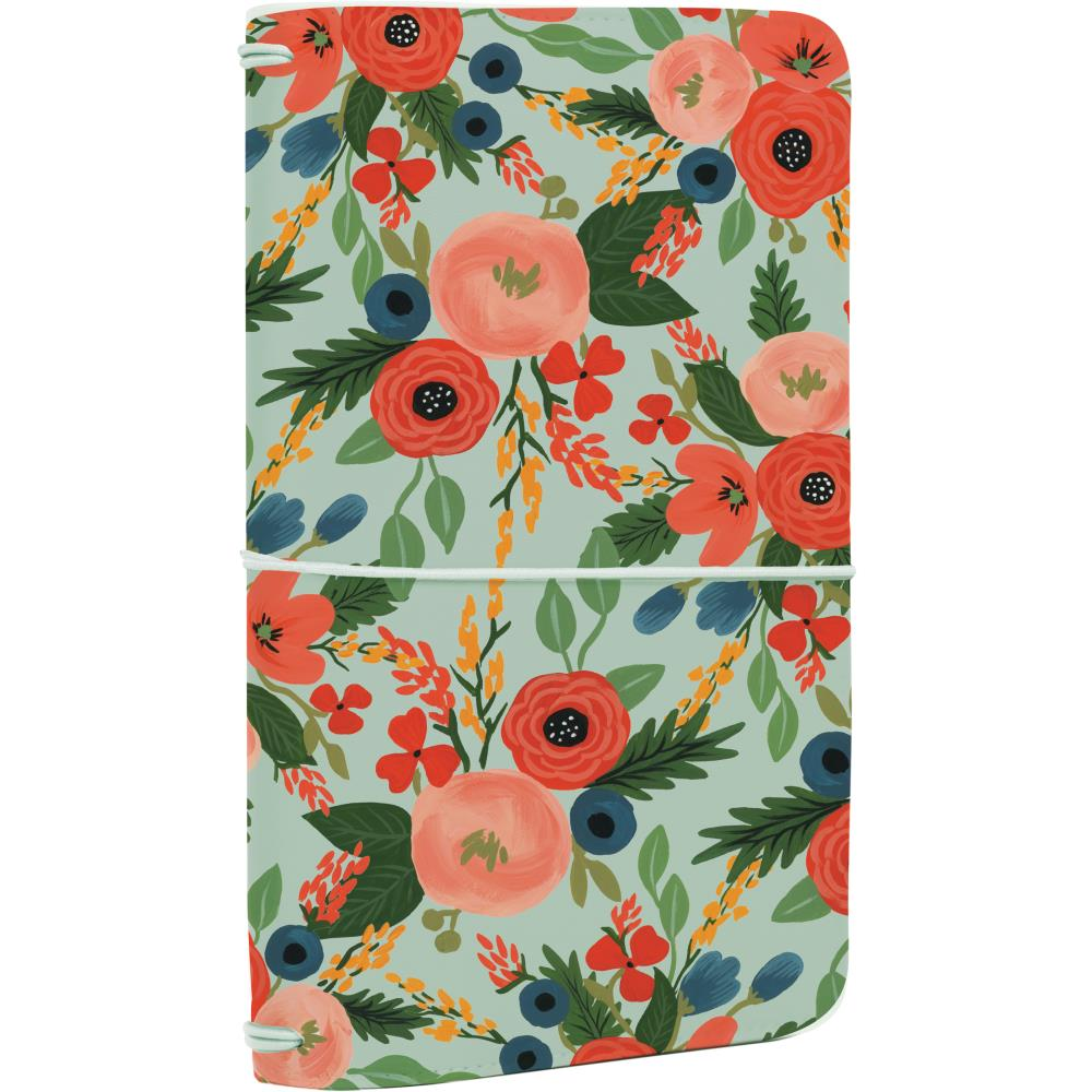 "New 2018 Echo Park Travelers Notebook 6x9"" - Mint Floral"