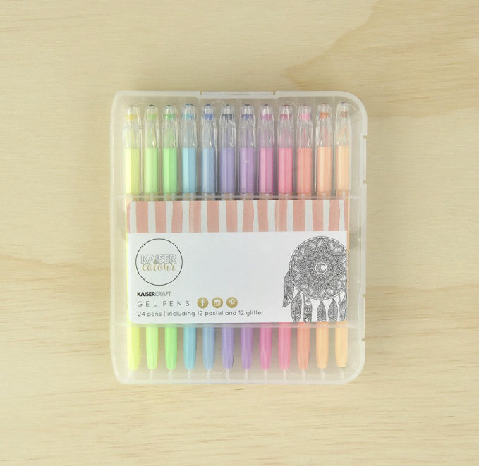 Kaisercraft Gel Pens 24 pack - CL101