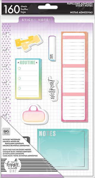 New Healthy Hero Classic Happy Planner prepunched Sticky notes POST-31