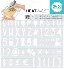 We R Memory Keepers Heatwave Pen Stencils - Sans Serif - 662661
