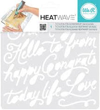 We R Memory Keepers Heatwave Pen Stencils - Script - 662663