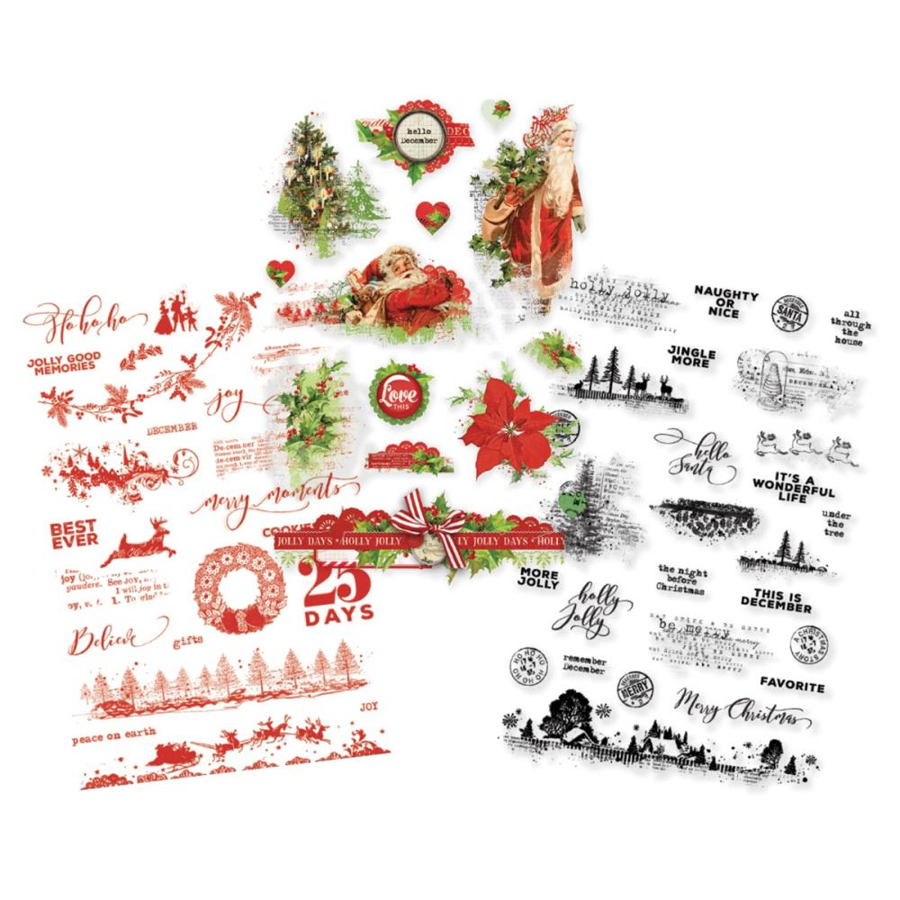 New Simple Stories Clear Sticker Pack - Simple Vintage Christmas - 10353
