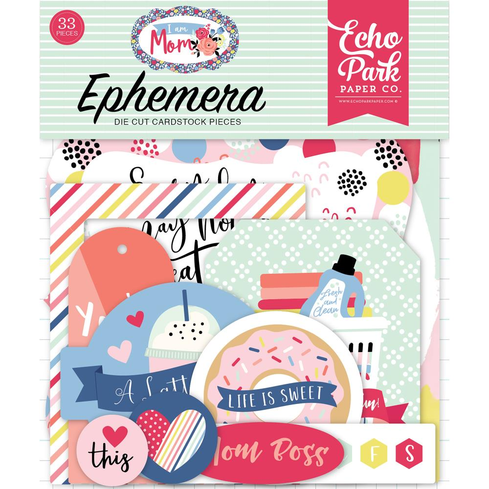 Echo Park Travelers Notebook Ephemera - I am Mom - mom165024