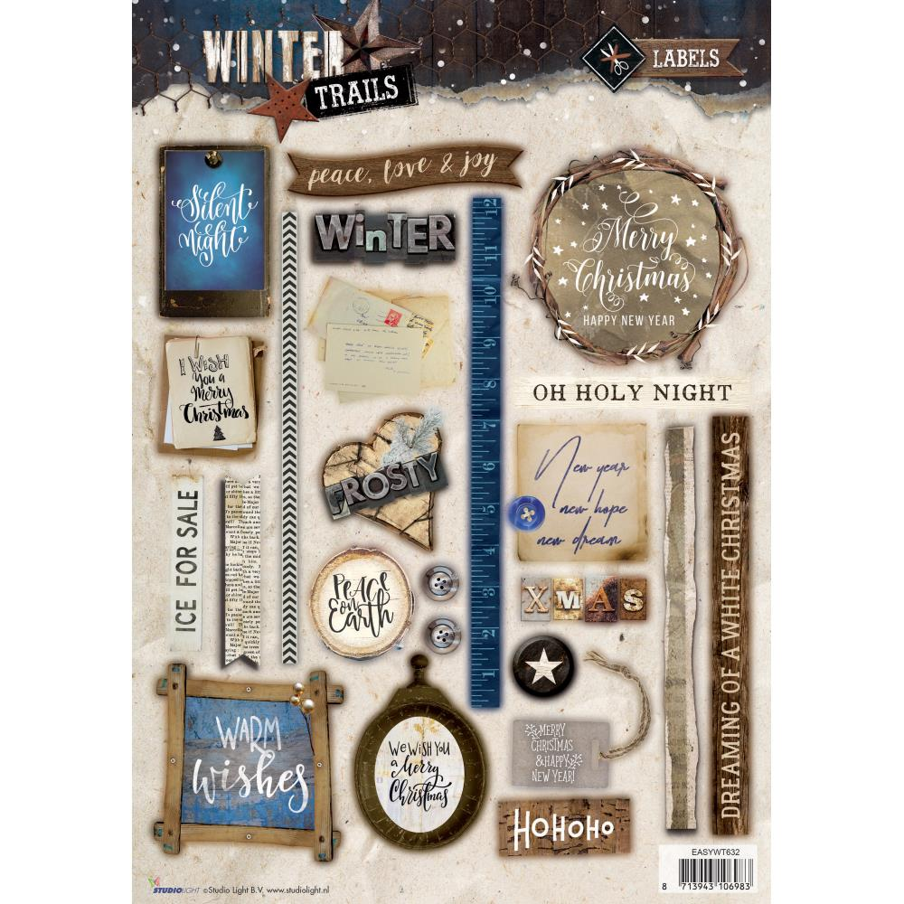 Winter Trails Christmas Die Cut Sheet - sywt632