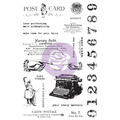 Finnabair Prima Art Daily Creations Stamp Set - Carte Postale - 964900