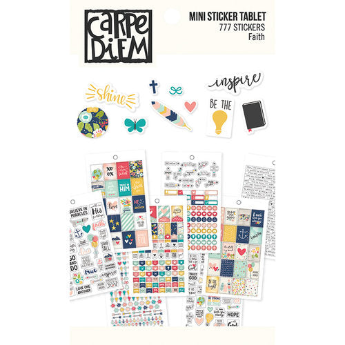 Mini Sticker Book - Simple Stories Carpe Diem - Faith - 7994