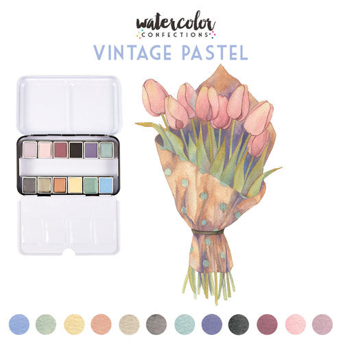 Prima Art Philosphy Water Colour Confections - Vintage Pastels - 636722