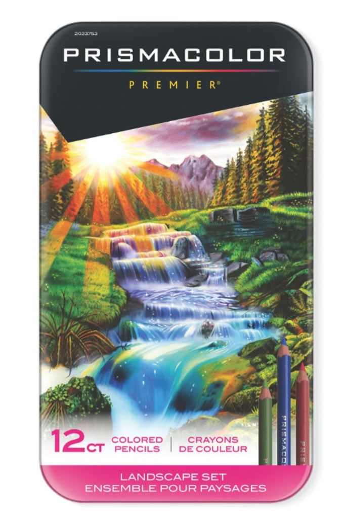Prismacolor Pencil Set 12 Artist Grade Premier Colouring Pencils - Landscape Set