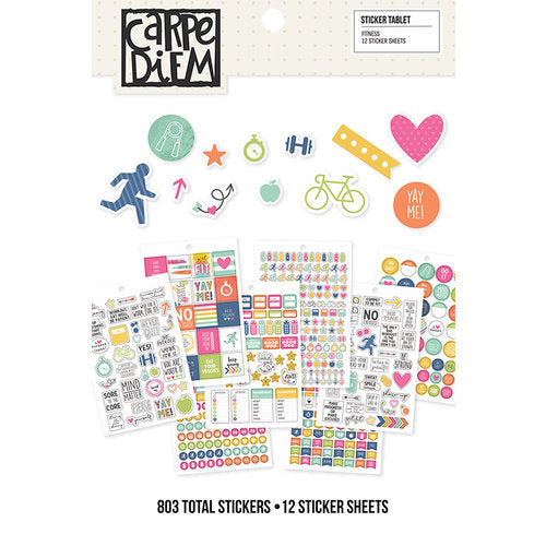 A5 Sticker Book - Simple Stories Carpe Diem - Fitness - cdf8902