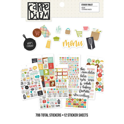 A5 Sticker Book - Simple Stories Carpe Diem - Recipe - cdr8911