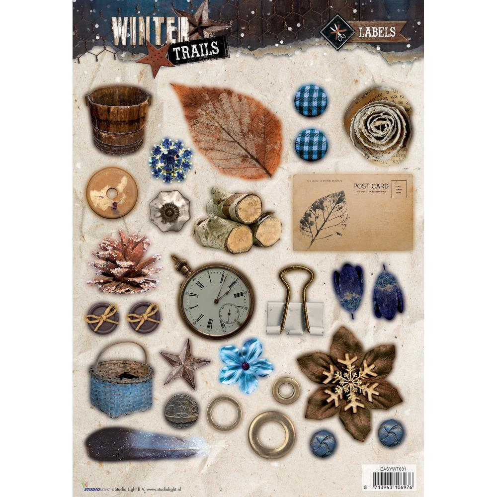 Winter Trails Christmas Die Cut Sheet - sywt631