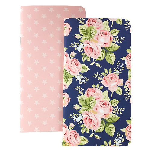 Websters pages Standard size Tn insert pack of two - Navy Floral - np104