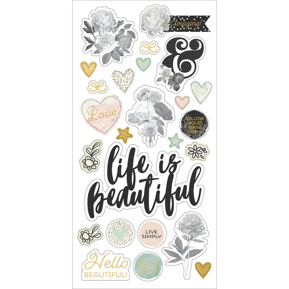 Simple Stories Carpe Diem -  Beautiful chipboard Stickers - 9215