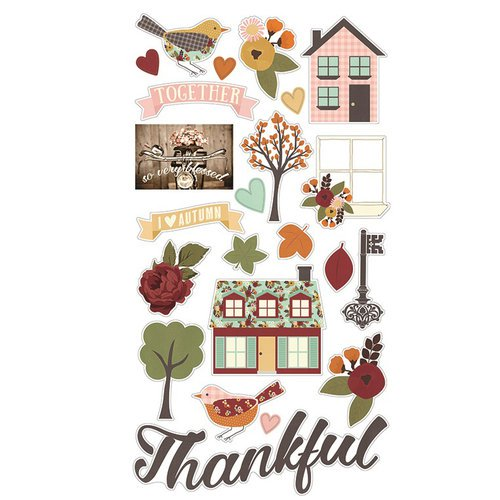 Simple Stories Vintage Blessings - 23 Chipboard Stickers - 9236